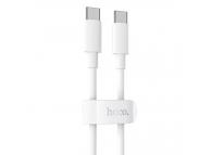 Cablu Date si Incarcare USB Type-C la USB Type-C HOCO X51, 1 m, 100W, Alb
