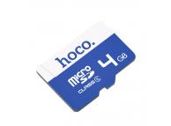 Card Memorie MicroSD HOCO, 4Gb, Clasa 6