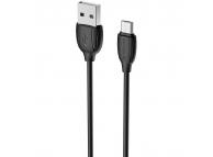 Cablu Date si Incarcare USB la MicroUSB Borofone Benefit BX19, 1 m, Negru