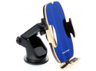 Incarcator Auto Wireless OEM HS2, Quick Charge, 15W, Conectori Magnetici, IR, Auriu