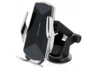 Incarcator Auto Wireless OEM HS3, Quick Charge, 15W, IR, Argintiu
