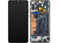 Display - Touchscreen Huawei P30 lite, Cu Rama, acumulator si piese, Versiune Camera frontala 32 MP, Negru 02352PJM