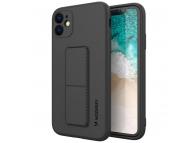 Husa TPU WZK Kickstand pentru Apple iPhone 11, Neagra
