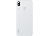 Capac Baterie - Geam Camera Spate - Geam Blitz - Senzor Amprenta Huawei Nova 3i, Alb 02352CAQ