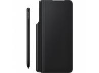 Pachet promotional Samsung Galaxy Z Fold3 5G, Husa Leather Flip &  Creion S Pen & Incarcator retea 25W, Negru EF-FF92KKBEGEE