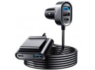 Incarcator Auto Statie USB Joyroom JR-CL05, Quick Charge, 72W, 3 x USB - 2 x USB Type-C, Negru