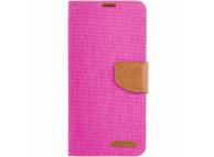 Husa Textil OEM Canvas pentru Samsung Galaxy A22 LTE, Roz