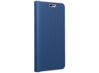 Husa Piele Forcell Luna Carbon pentru Samsung Galaxy A22 LTE, Bleumarin
