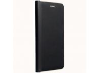 Husa Piele Forcell Luna Gold pentru Samsung Galaxy A22 LTE, Neagra