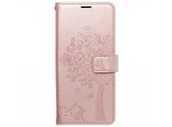 Husa Piele Forcell MEZZO pentru Samsung Galaxy A22 LTE, Tree rose, Roz
