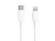 Cablu Date si Incarcare USB Type-C la Lightning Xiaomi, 1 m, 18W, Alb BHR4421GL