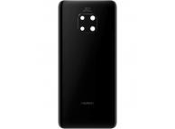 Capac Baterie - Geam Camera Spate Huawei Mate 20 Pro, Negru, Swap