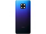 Capac Baterie - Geam Camera Spate Huawei Mate 20 Pro, (Twilight), Albastru, Swap