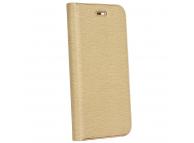 Husa Piele Forcell Luna Gold pentru Samsung Galaxy A22 LTE, Aurie