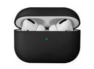 Husa Protectie Casti UNIQ Lino Hybrid pentru Apple AirPods Pro, Neagra