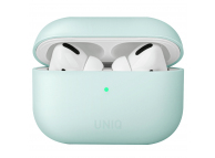 Husa Protectie Casti UNIQ Lino Hybrid pentru Apple AirPods Pro, Bleu