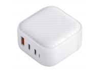 Incarcator Retea Universal UNIQ Verge Pro GaN, Quick Charge, 66W, 1 X USB - 2 x USB Tip-C, Alb