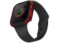 Husa Protectie Ceas UNIQ Valencia pentru Apple Watch Series 4 44mm Aluminum / Apple Watch Edition Series 5 / Apple Watch Series 6, Rosie