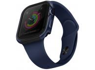 Husa Protectie Ceas UNIQ Valencia pentru Apple Watch Series 4 Aluminum / Apple Watch Edition Series 5 / Apple Watch Series 6, 44mm, Albastra