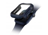 Husa Protectie Ceas UNIQ Torres 9H pentru Apple Watch Series 4 40mm / Apple Watch Series 5 / Apple Watch Edition Series 6, Bleumarin
