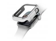Husa Protectie Ceas UNIQ Torres 9H pentru Apple Watch Series 4 40mm / Apple Watch Series 5 / Apple Watch Edition Series 6, Alba