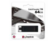 Memorie Externa Kingston Data Traveler DT70, 64Gb, USB Type-C, Neagra