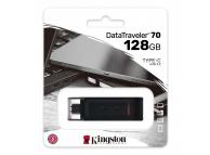 Memorie Externa Kingston Data Traveler DT70, 128Gb, USB Type-C, Neagra