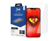 Folie Protectie Ecran 3MK pentru Apple iPhone 13 / Apple iPhone 13 Pro, Sticla Flexibila, Full Glue, 7H