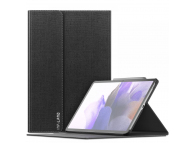Husa Tableta Piele INFILAND SMART STAND pentru Samsung Galaxy Tab S7 FE, Neagra