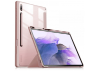 Husa Tableta Poliuretan INFILAND Crystal pentru Samsung Galaxy Tab S7 FE, Roz