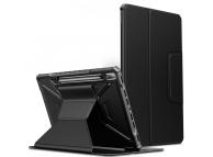 Husa Tableta Poliuretan INFILAND MULTIPLE ANGLES pentru Samsung Galaxy Tab S7 FE, Neagra