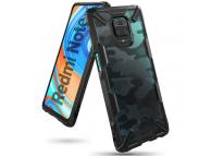 Husa Plastic - TPU Ringke Fusion X Design Camo pentru Xiaomi Redmi 10X 4G / Xiaomi Redmi Note 9, Neagra XDXI0016