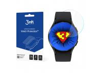 Folie Protectie Ecran 3MK pentru Samsung Galaxy Watch4 44mm, Plastic, Set 3 buc