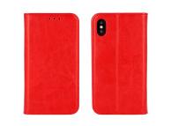 Husa Piele OEM Special Book pentru Xiaomi Redmi Note 10 5G, Rosie