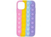 Husa TPU OEM Bubble Fidget Pop It pentru Apple iPhone 11 Pro Max, Anti-Stress, Multicolor