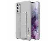 Husa TPU WZK Kickstand pentru Samsung Galaxy S20 FE, Gri