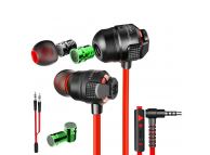 Handsfree Casti In-Ear Plextone G23, Cu microfon, 3.5 mm, Gaming, Rosu