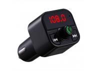 Modulator FM Bluetooth OEM X5, Buton Apel, MP3 Player, Afisaj, 2 x USB, Negru