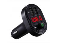 Modulator FM Bluetooth OEM X1, Buton Apel, MP3 Player, Afisaj, 2 x USB, Negru