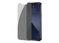 Folie Protectie Ecran Baseus pentru Apple iPhone 12 / Apple iPhone 12 Pro, Sticla securizata, Full Face, Full Glue, Privacy, Set 2buc, 0.3mm SGAPIPH61P- LK02