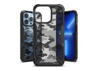 Husa Plastic - TPU Ringke Fusion X Design Camo pentru Apple iPhone 13 Pro Max, Neagra
