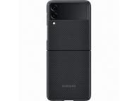 Husa Telefon Samsung Galaxy Z Flip3 5G, Fibra Aramida, EF-XF711SBE, Neagra, Resigilat
