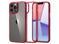 Husa Telefon Spigen Plastic - TPU ULTRA HYBRID Apple iPhone 13 Pro, Rosie - Transparenta, Resigilat