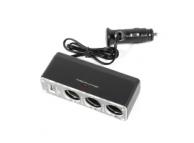 Adaptor auto 3 iesiri bricheta cu USB PT Blister