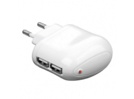 Adaptor priza Dual USB Allview AllDro 2 Speed 2A Goobay alb
