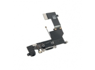 Banda cu Conector incarcare / date - Conector Audio - Microfon Apple iPhone 5s, Negru