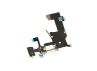 Banda cu Conector incarcare / date - Conector Audio - Microfon Apple iPhone 5, Alb