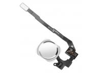 Buton meniu cu senzor si banda Apple iPhone 5s alb argintiu