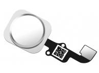 Buton meniu cu senzor si banda Apple iPhone 6 alb argintiu