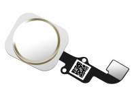 Buton meniu cu senzor si banda Apple iPhone 6 alb auriu